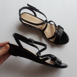 Cole Haan | black patent leather sandals